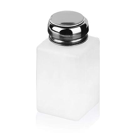 Wafalano Botella de Arte para uñas, 200 ML Dispensador de Bombeo vacío Limpiador para Remover