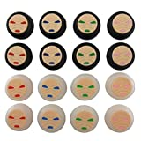 Honbay Pack of 16 King Kong Shape Thumb Grip Thumbstick Sets for PS4 PS3 Xbox One Xbox 360 Wii Controller