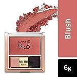 Lakmé 9 to 5 Pure Rouge Blusher, Peach Affair, 6 g