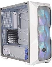 Cooler Master MasterBox TD500 Mesh - ARGB PC behuizing met polygoon mesh, 3 x 120mm geïnstalleerde ventilatoren, helder glazen zijpaneel, flexibele air flow configuraties - wit