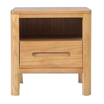 Amazon.com: Mesita de noche de madera maciza muebles de ...