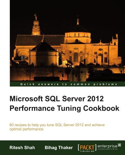 Microsoft SQL Server 2012 Performance Tuning Cookbook by Bihag Thaker , Ritesh Shah, Publisher : Packt Publishing