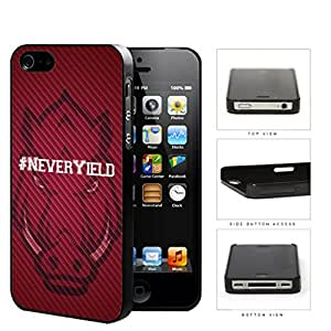 Hashtag Never Yield School Spirit Slogan Chant iPhone 4 4s Hard Snap on Plastic Cell Phone Cover by runtopwell