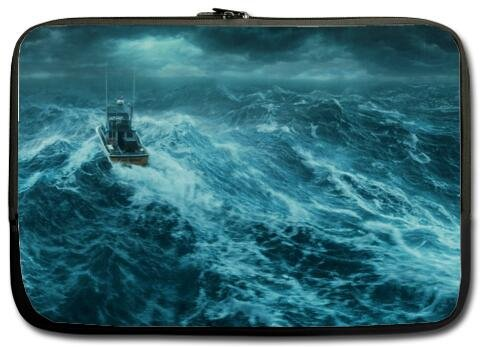 The Perfect Storm rough sea billow inch Laptop Netbook Notebook Slipcase Sleeve (Mini Storm Twin)