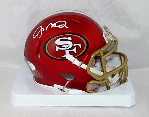 Joe Montana Autographed San Francisco 49ers Blaze Mini Helmet- JSA W Auth White