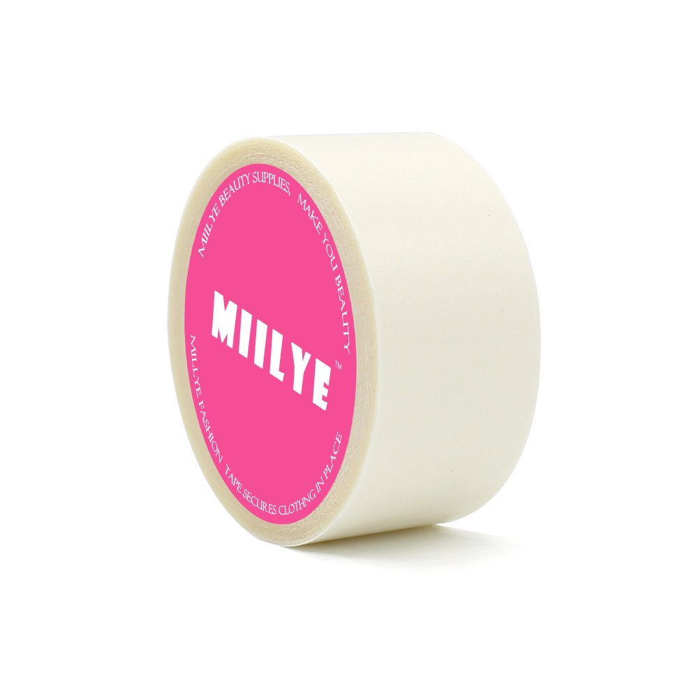 MIILYE Dress Tape, Double-Sided Body Skin and Clothes Friendly Adhesive Tape to Keep Fashion Clothing in Place, 1 in x 29 ft