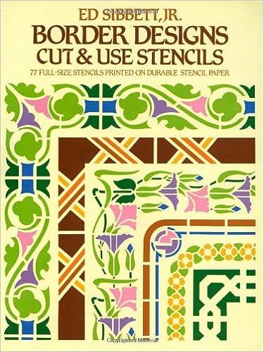 Border Designs Cut Use Stencils Dover Ed Sibbett Jr 0800759242474 Amazon Books