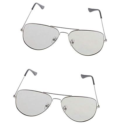 KESOTO 2 Unids 3D Gafas Pasivas Pequeñas Gafas Polarizadas Gris Calidad Adultos