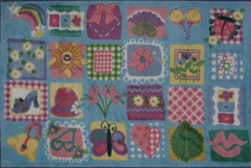 Funky Girls Quilt Rug - Fun Rugs Supreme Collection 39