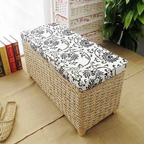 Superb Amazon Com Footstools Natural Rattan Ottoman Upholstered Lamtechconsult Wood Chair Design Ideas Lamtechconsultcom