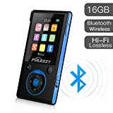 MP3 Player with Bluetooth and FM Radio,16GB Portable HIFI Lossless Sound MP3/MP4 Music