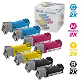 LD © Compatible Dell 331-0716, 331-0717, 331-0718 and 331-0719 Set of 8 Toner Cartridges: 2 Black, 2 Cyan, 2 Magenta and 2 Yellow for use in Dell 2150cdn, 2150cn, 2155cdn, and 2155cn Printers, Office Central