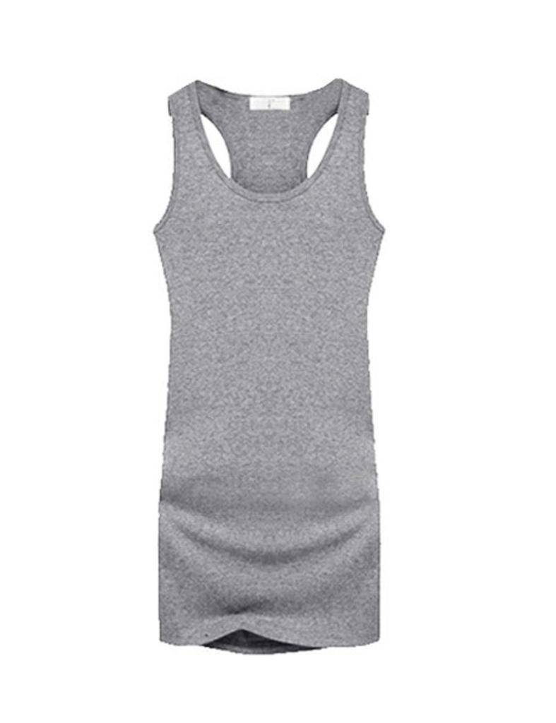 Legou Damen Lang Tank Tops Basic Tee Unterhemd LGMUBD0014-5