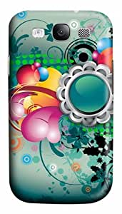 Abstract Art Flowers Color Pattern Custom Polycarbonate Hard Case Cover for Samsung Galaxy S3 SIII I9300