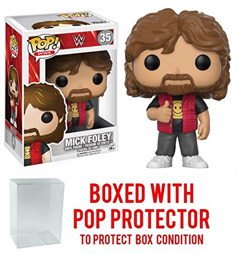 Funko Pop! WWE Mick Foley Vinyl Figure (Bundled with Pop BOX PROTECTOR CASE) by Funko