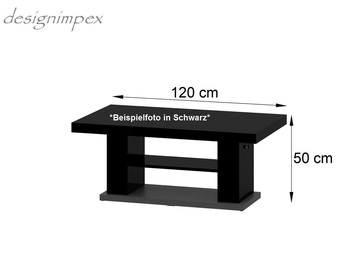 Elegant Design Couchtisch Hn Wei Grau Hochglanz Ausziehbar Tisch Amazonde  Kche U Haushalt With Esstisch Wei Grau Ausziehbar.