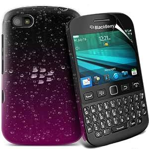 ONX3 Nokia Lumia 520 Leather Slip protectora Polka PU de cordón en la bolsa de la liberación rápida (púrpura y blanco)