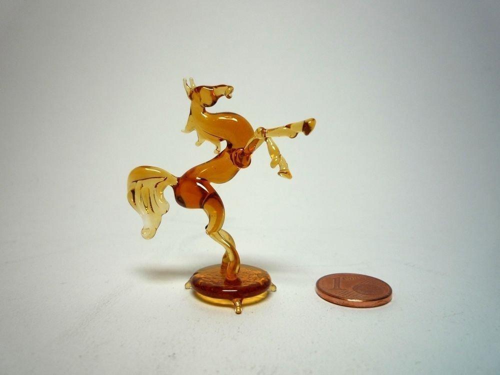 Blown Glass Horse Miniature Sculpture Figurine Homedecor murano art collectible gifts artglass lampwork boro Swedish horse handblown