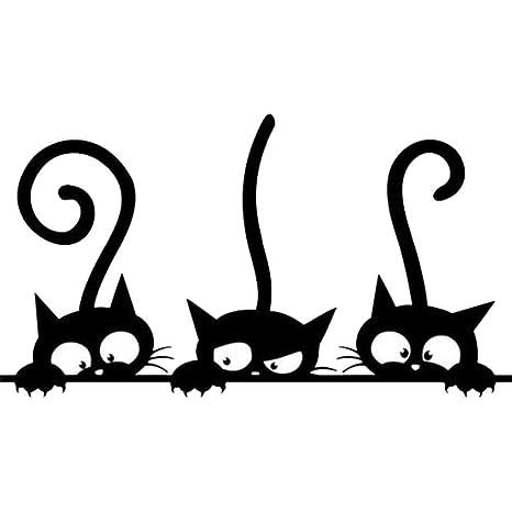 Amazon.com: Three Cat Removable Wall Sticker Tattoo Kids ...