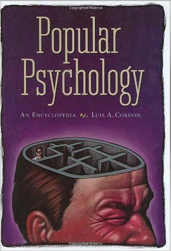 Popular Psychology An Encyclopedia Luis A Cordon 9780313324574
