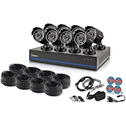 Swann 8 Channel 1080p TVI DVR Security System with 8 1080p Cameras, 2TB Hard Drive, and 100' Night Vision by Swann