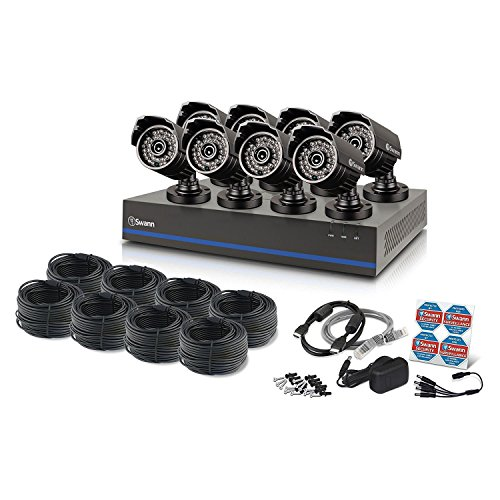 Swann 8 Channel 1080p TVI DVR Security System with 8 1080p Cameras, 2TB Hard Drive, and 100' Night Vision