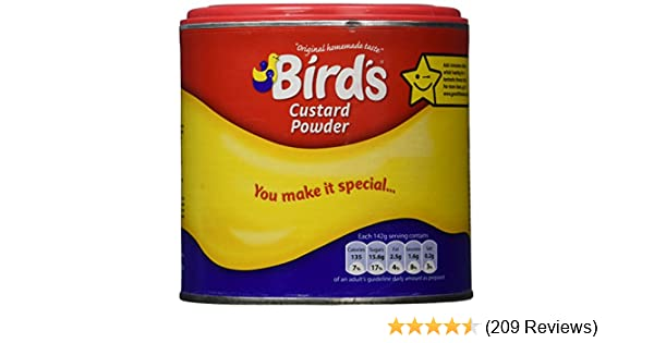 Amazon Birds Custard Powder 300g Cooking And Baking Pudding