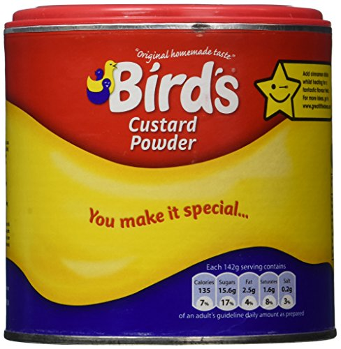 Bird's Custard Powder, 10.6 Ounce Canisters (Vanilla Cornstarch Pudding)
