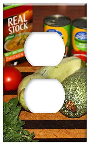 - Switch Plate Outlet Cover - Food Organic Nature Healthy Fresh Green Vegetable