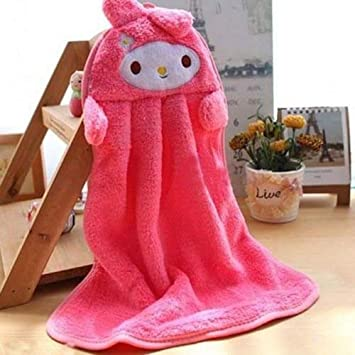 UCTOP STORE Juego de 4 toallas de microfibra absorbentes para niños con formas de dibujos animados para uso en cocina o baño: Amazon.es: Hogar