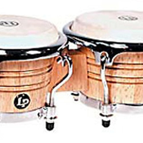 (2010 Latin Percussion Natural Wood Mini Tunable Bongos LPM199-AW Pictured)