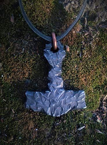 Thor's Hammer Mjolnir Mjölnir Mjollnir metal Pendant FREE SHIPPING pendant Blued steel pendant Thor
