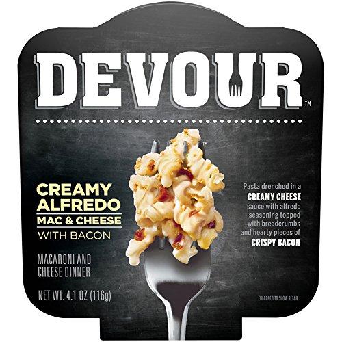 DEVOUR Creamy Alfredo Mac & Cheese with Bacon, 4.1 oz Bowl