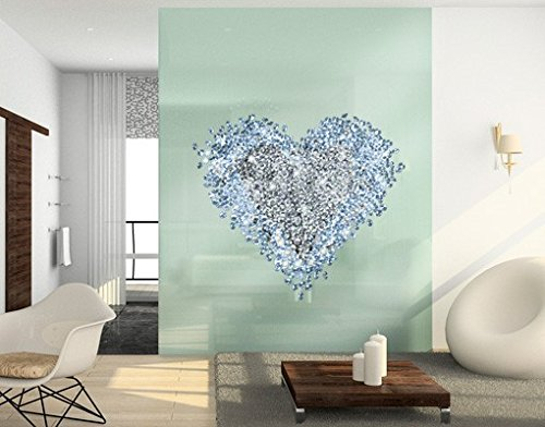 Window Sticker Diamond Heart window film window tattoo glass sticker window art window décor window decoration window picture Size: 48 x 54.3 inches by PPS. Imaging
