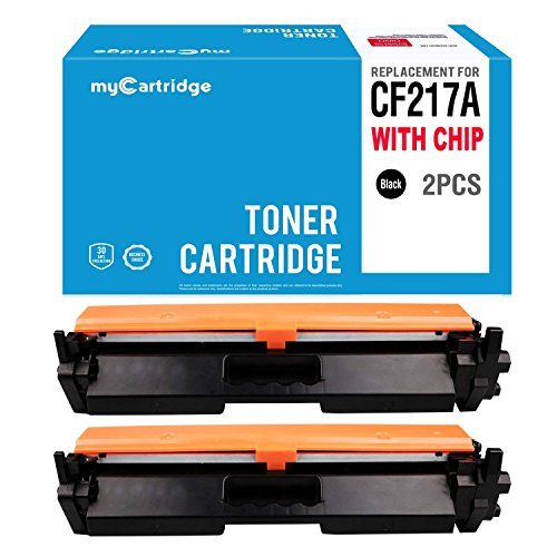 myCartridge Replacement for HP 17A CF217A Black Toner Cartridge Compatible [ WITH CHIP ] Fit for HP LaserJet Pro M102w LaserJet Pro MFP M130fn M130fw M130nw M130a (2-Pack) by myCartridge