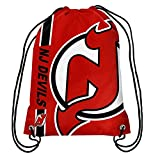 Official National Hockey League Fan Shop Authentic Drawstring NHL Back Sack (New Jersey Devils)