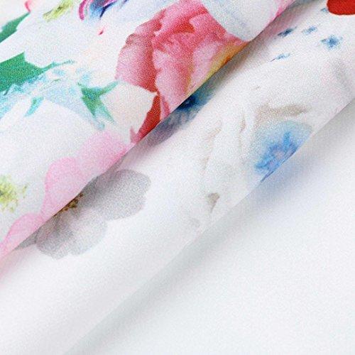 Stampa Bhydry Corta Bianco Collo U Giacca Animali Manica Camicia Donna A PPwSrEx