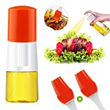 Olive Oil Sprayer,Pump Oil Misting Food-grade Bottle Vinegar Bottle Oil Dispenser for BBQ, Making Salad,Cooking,Baking, Roasting, Grilling, Frying (Orange 01)