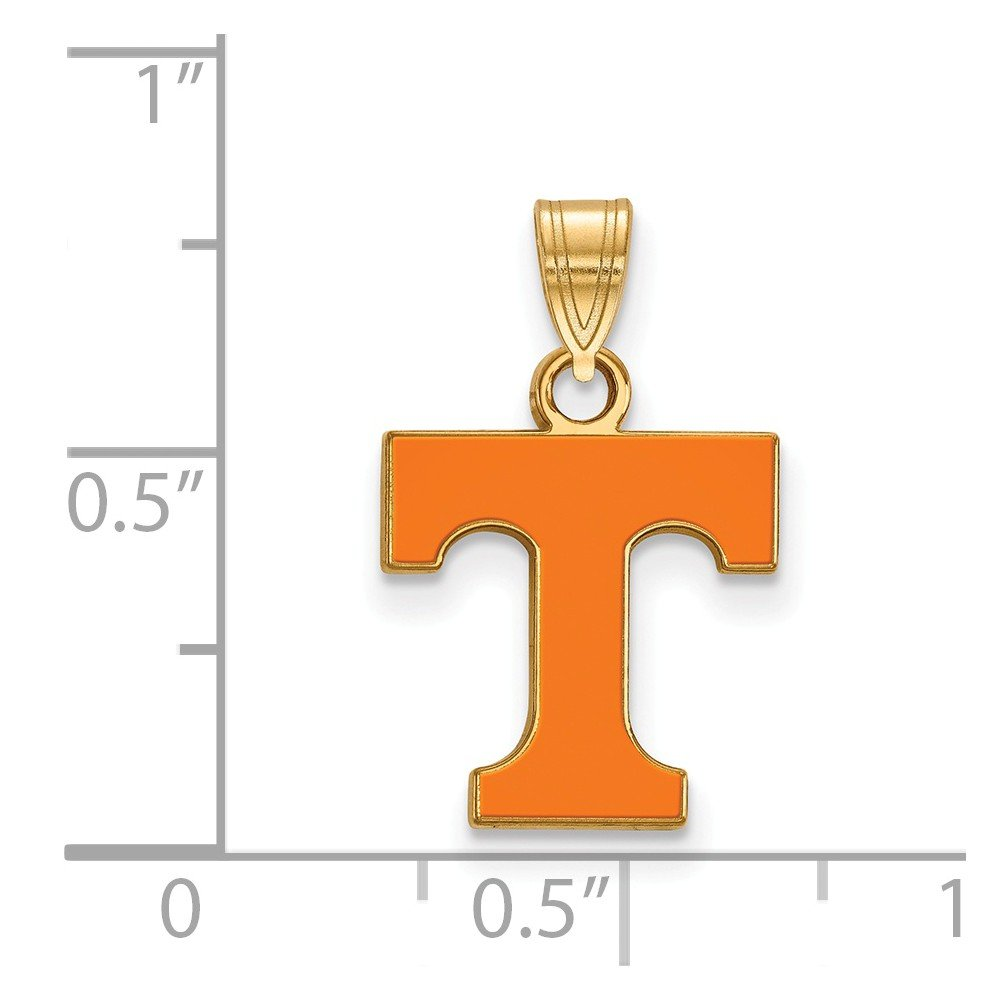 FB Jewels Sterling Silver Gold Plated LogoArt University of Tennessee Small Enamel Pendant