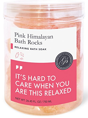 Himalayan Pink Salt Bath Rocks (Crystals, Net Wt. 26.45 fl oz, 750ml) - Crystal Sea Salt / Rock Block / benefits / Cooking
