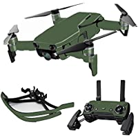 MightySkins Skin for DJI Mavic Air Drone - Solid Olive | Max Combo Protective, Durable, and Unique Vinyl Decal wrap cover | Easy To Apply, Remove, and Change Styles | Made in the USA