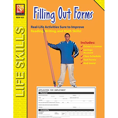 (Remedia Publications REM435 Practical Practice Reading Book Series: Filling Out Forms, 0.5