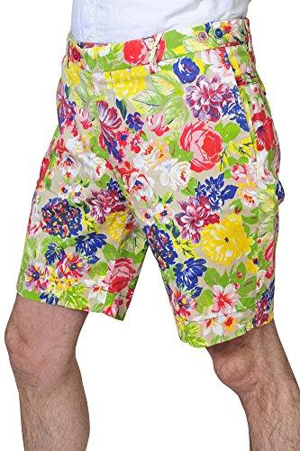 Manuel Ritz Pantalon Homme 36 Rouge / Short Taille normale