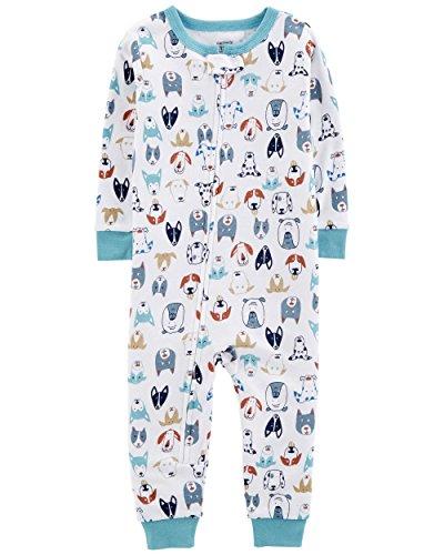 Carter's Baby Boys' 1-Piece Snug Fit Footless Cotton Pajamas (12 Months, Dog Print) ()