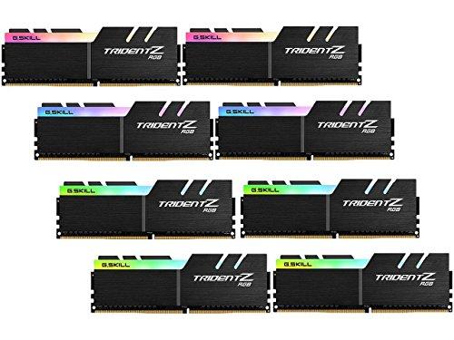 G.SKILL 64GB (8 x 8GB) TridentZ RGB Series DDR4 PC4-27700 3466MHz Desktop Memory Model F4-3466C16Q2-64GTZR