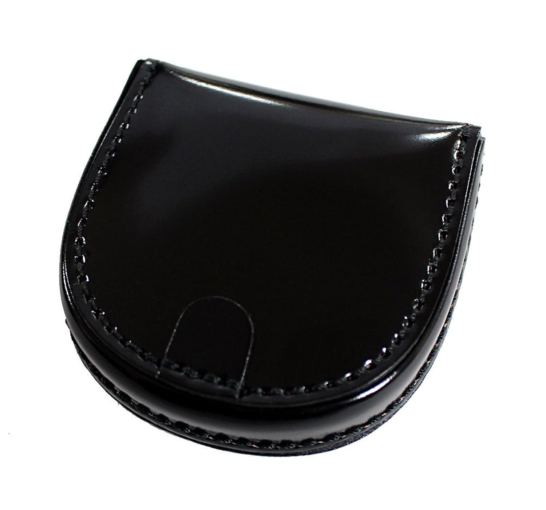コードバン CORDOVAN コインケース 馬蹄型 小銭入 馬尻革 日本製(ブラック チョコ ブラウン ネイビー) B01LYCT98K  ブラック