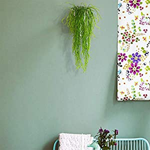 Artificial Plants Vines Fern Willow Wicker Twig Fake Hanging Plant Faux Curly Seaweed Ferns Flowers Vine Outdoor UV Resistant Plastic Plants for Wall Indoor Hanging Baskets Wedding 3