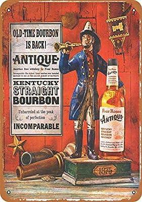 ACOVE 1959 Four Roses Kentucky Bourbon Vintage Look Metal Tin Sign - 10x14 inch