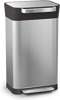 Joseph 30030 Intelligent Waste Titan Trash Can Compactor, 8 gallon 30 liter, Stainless Steel