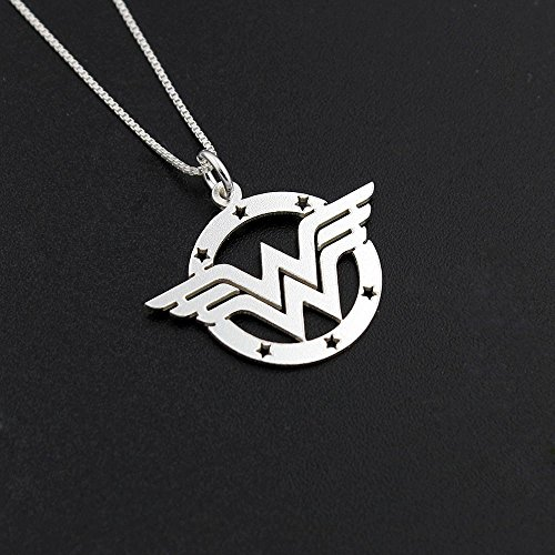 Delicate Wonder Woman handmade necklace sterling silver Wonder Woman symbol - super hero - gift for women - girl jewelry - strong woman - amazing mom gift Diana Prince symbol